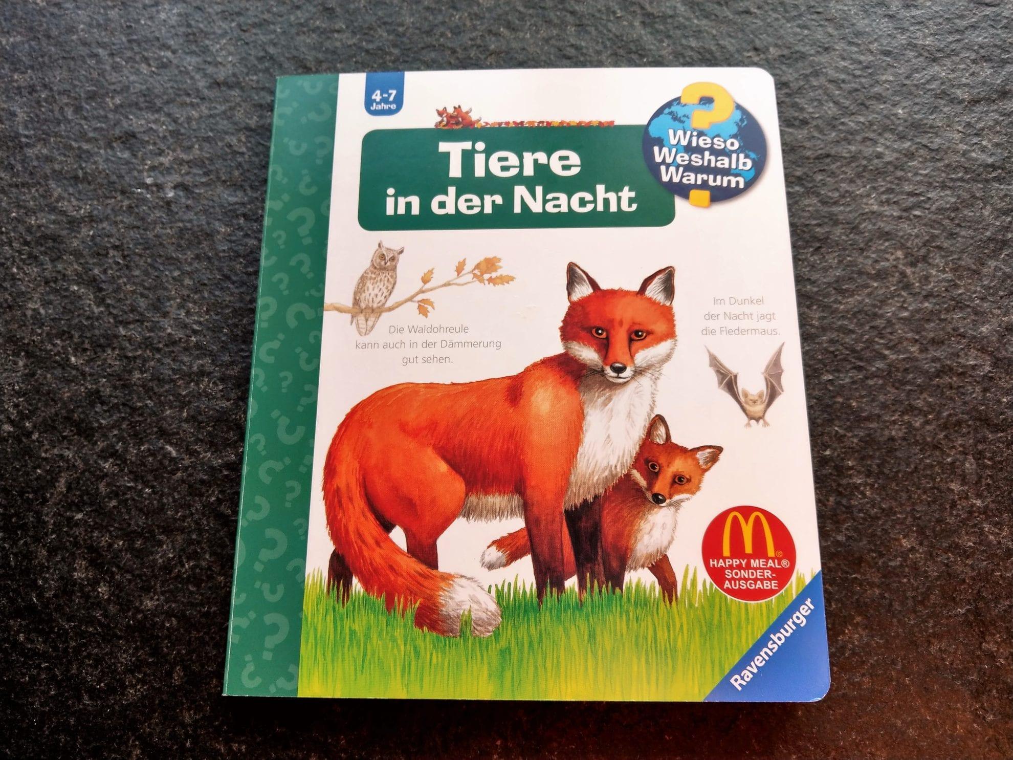 """Das Lieblingsbuch der Freitagslieblinge am 28.9.18 ist """"Tiere der Nacht"""" der Reihe Wieso Weshalb Warum von Ravensburger"""