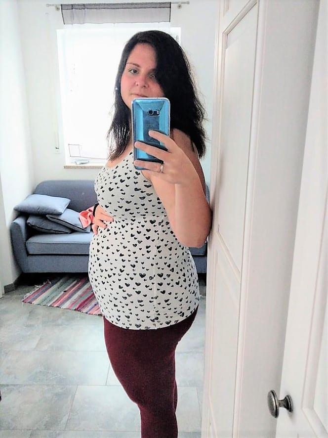 Schwangerschaftsupdate, Schwangerschaftswoche 18, Ssw 18, Babybauch, Selfie