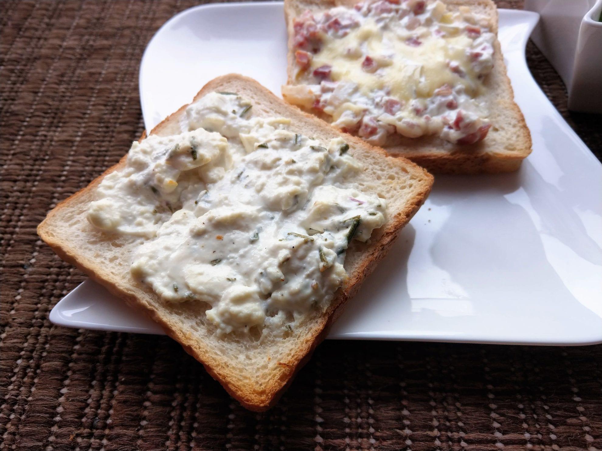 Mit Kindern kochen: Rezept für zweierlei Flammkuchentoast, einfach umzusetzen, geht schnell und schmeckt verdammt lecker. Auch als Partysnack.