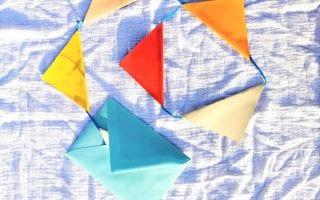 DIY Bastelanleitung Wimpelkette als Geburtstagseinladung Titel